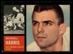 1962 Topps #11  Wendell Harris  Front Thumbnail