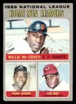 1970 Topps #65   -  Hank Aaron / Lee May / Willie McCovey NL HR Leaders Front Thumbnail