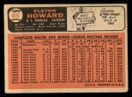 1966 Topps #405  Elston Howard  Back Thumbnail