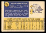 1970 Topps #518  Bill Melton  Back Thumbnail