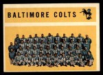 1960 Topps #11   Colts Team Checklist Front Thumbnail