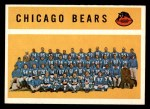 1960 Topps #21   Bears Team Checklist Front Thumbnail