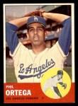 1963 Topps #467  Phil Ortega  Front Thumbnail