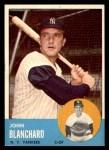 1963 Topps #555  John Blanchard  Front Thumbnail