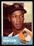 1963 Topps #330  Chuck Hinton  Front Thumbnail
