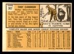 1963 Topps #367  Tony Cloninger  Back Thumbnail