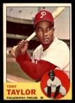 1963 Topps #366  Tony Taylor  Front Thumbnail