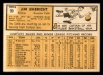 1963 Topps #99  Jim Umbricht  Back Thumbnail