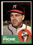 1963 Topps #179  Ron Piche  Front Thumbnail