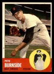1963 Topps #19  Pete Burnside  Front Thumbnail