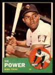 1963 Topps #40 xSTR Vic Power  Front Thumbnail