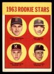 1963 Topps #299   -  Dave Morehead / Tom Butters / Dan Schneider / Bob Dustal Rookies   Front Thumbnail