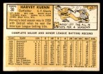 1963 Topps #30  Harvey Kuenn  Back Thumbnail