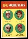 1963 Topps #29 III  -  Sammy Ellis / Ray Culp / John Boozer / Jesse Gonder  Rookies Front Thumbnail