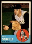 1963 Topps #34  Dick Schofield  Front Thumbnail