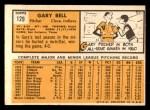 1963 Topps #129  Gary Bell  Back Thumbnail