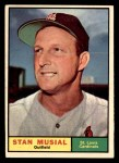 1961 Topps #290  Stan Musial  Front Thumbnail