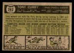 1961 Topps #262  Tony Curry  Back Thumbnail