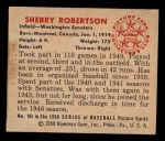 1950 Bowman #161  Sherry Robertson  Back Thumbnail