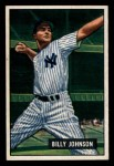 1951 Bowman #74  Billy Johnson  Front Thumbnail