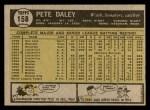 1961 Topps #158  Pete Daley  Back Thumbnail