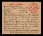 1950 Bowman #147  Mike Garcia  Back Thumbnail
