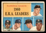1961 Topps #45   -  Ernie Broglio / Don Drysdale / Bob Friend / Mike McCormick / Stan Williams NL ERA Leaders Front Thumbnail