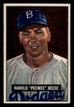 1951 Bowman #80  Pee Wee Reese  Front Thumbnail