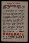 1951 Bowman #28  Eddie Waitkus  Back Thumbnail