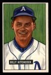 1951 Bowman #191  Billy Hitchcock  Front Thumbnail