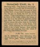 1935 Diamond Stars #2 SOX Al Simmons   Back Thumbnail