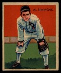 1935 Diamond Stars #2 SOX Al Simmons   Front Thumbnail