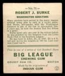 1933 Goudey #71  Robert Burke  Back Thumbnail