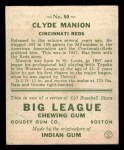 1933 Goudey #80  Clyde Manion  Back Thumbnail