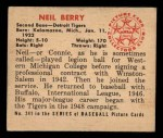 1950 Bowman #241  Neil Berry  Back Thumbnail