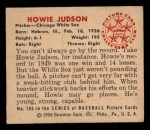 1950 Bowman #185 CPR Howie Judson  Back Thumbnail