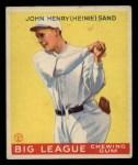 1933 Goudey #85  Heinie Sand  Front Thumbnail