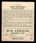 1933 Goudey #91  Tom Zachary  Back Thumbnail