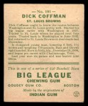 1933 Goudey #101  Richard Coffman  Back Thumbnail