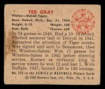 1950 Bowman #210 ^CR^ Ted Gray  Back Thumbnail