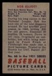 1951 Bowman #66  Bob Elliott  Back Thumbnail
