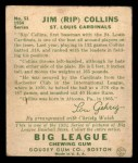 1934 Goudey #51  Rip Collins  Back Thumbnail