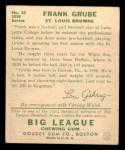 1934 Goudey #64  Frank Grube  Back Thumbnail