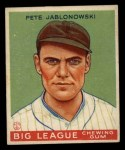 1933 Goudey #83  Pete Jablonowski  Front Thumbnail
