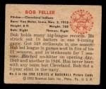 1950 Bowman #6  Bob Feller  Back Thumbnail
