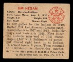 1950 Bowman #7  Jim Hegan  Back Thumbnail