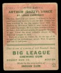 1933 Goudey #2  Dazzy Vance  Back Thumbnail