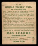 1933 Goudey #18  Muddy Ruel  Back Thumbnail