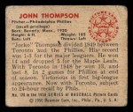 1950 Bowman #120  Jocko Thompson  Back Thumbnail