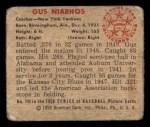 1950 Bowman #154  Gus Niarhos  Back Thumbnail